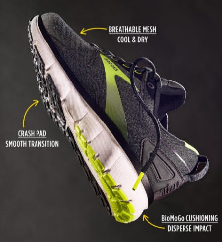 Push Forward with Brooks from Rack Room Shoes