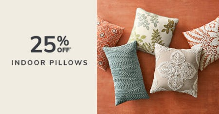 25% Off Indoor Pillows from Pier 1 Imports