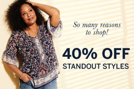 40% Off Standout Styles from Dressbarn