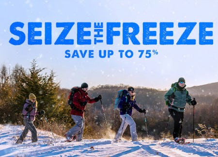 Save Up to 75% Seize The Freeze from The North Face