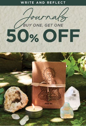 BOGO 50% Off Journals from Earthbound Trading Company