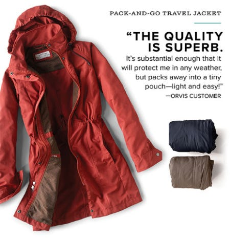The Pack-and-Go Travel Jacket from Orvis