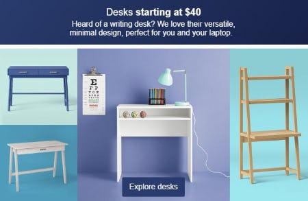 Desks Starting at $40