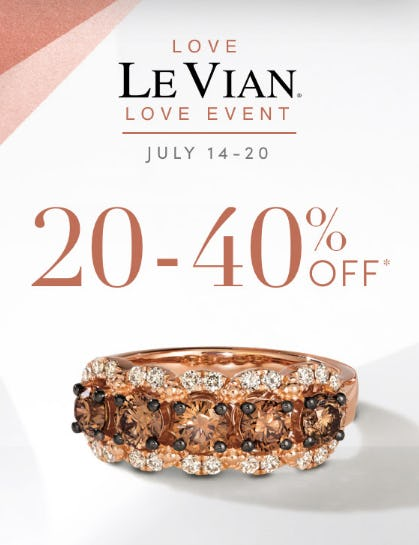 20-40% Off Le Vian Love Event from Jared Galleria of Jewelry
