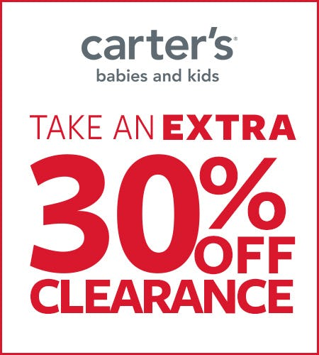 TAKE AN EXTRA 30% OFF CLEARANCE from Carter's