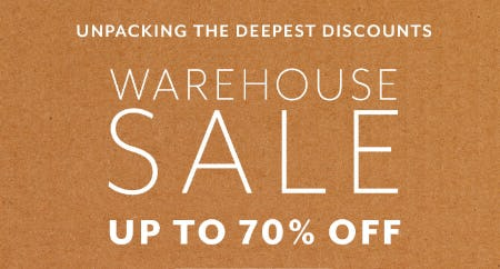 Warehouse Sale Up to 70% Off from Sur La Table