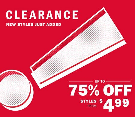 Clearance Up to 75% Off from Old Navy
