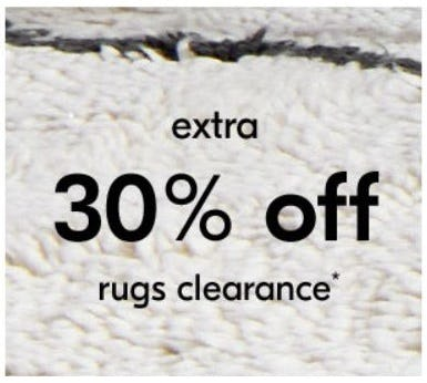 Extra 30% Off Rugs Clearance from West Elm