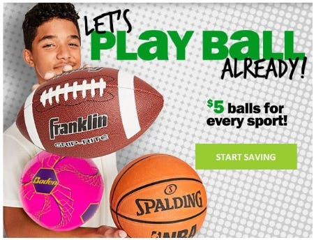 $5 Balls for Every Sport from Five Below