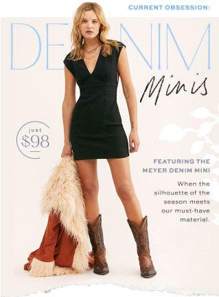 Featuring The Meyer Denim Mini from Free People