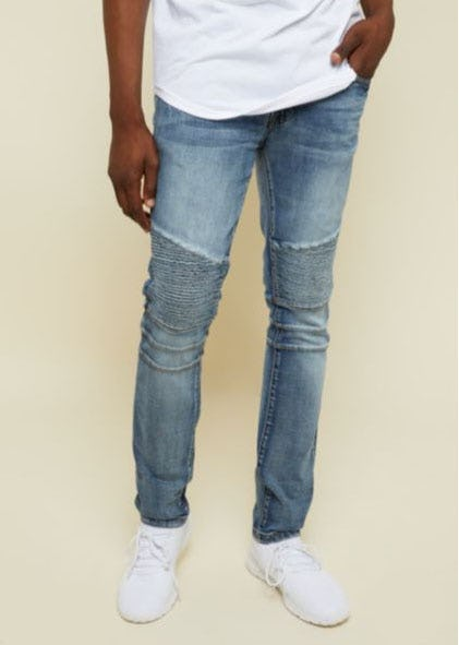 Dark Wash Moto Skinny Jeans from rue21