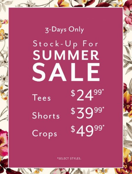 Stock-Up For Summer Sale from White House Black Market