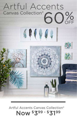 60% Off Artful Accents Canvas Collection from Kirkland's