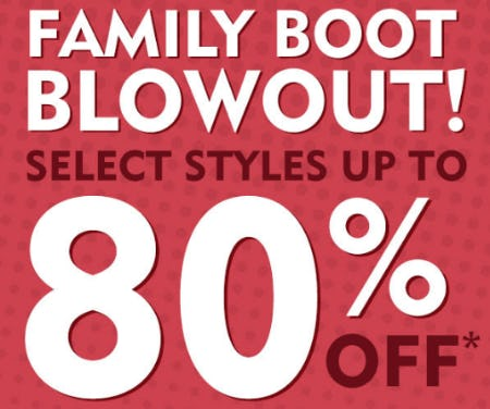 Family Boot Blowout from Shoe Carnival