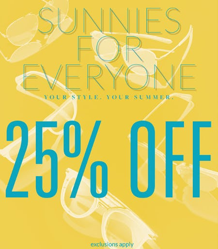 25% Off Sunnies from Solstice Sunglass Boutique