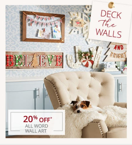 20% Off All Word Wall Art