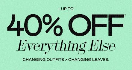 Up to 40% Off Everything Else from PacSun