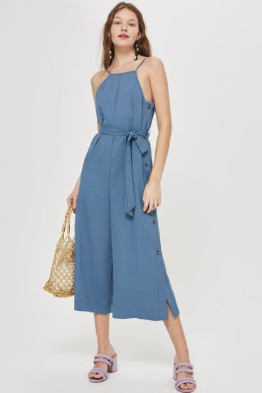 Blue Strappy Jumpsuit from TOPSHOP