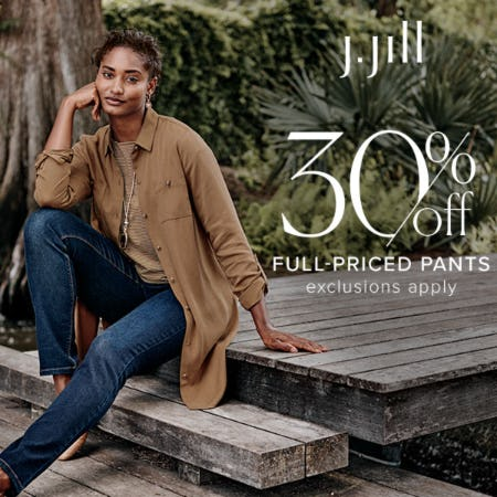 30% off Full-Priced Pants from J.Jill
