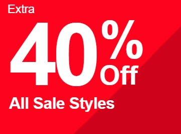 Extra 40% Off All Sale Styles from Spring