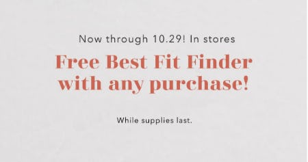 Free Best Fit Finder with Any Purchase from Aerie
