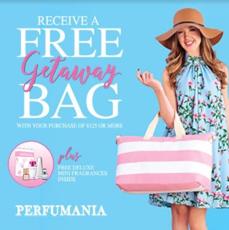 Free Deluxe Cotton Getaway Bag & Fragrances