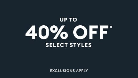 Up to 40% Off Select Styles from Banana Republic