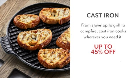 Up to 45% Off Cast Iron from Sur La Table