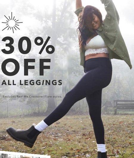 30% Off All Leggings from Aerie