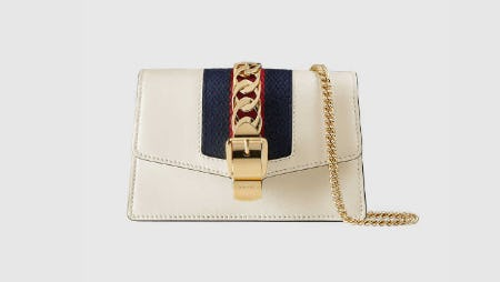 Sylvie Leather Mini Chain Bag from Gucci