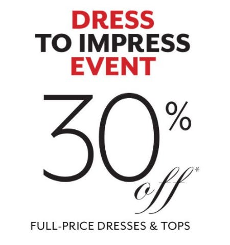 30% Off Full-Price Dresses & Tops from White House Black Market
