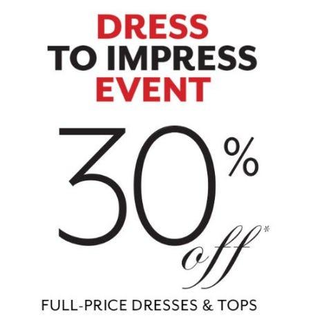 30% Off Full-Price Dresses & Tops from White House Black Market