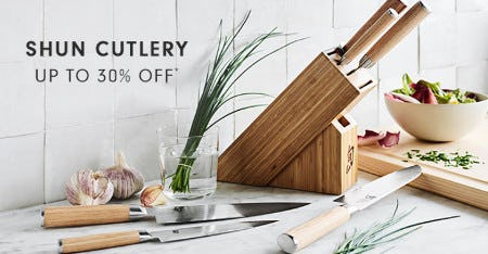 Shun Cutlery Up to 30% Off from Williams-Sonoma