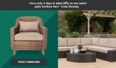 20% Off Patio Furniture from Target