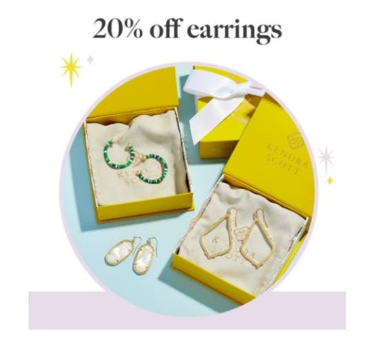 20% Off Earrings from Kendra Scott