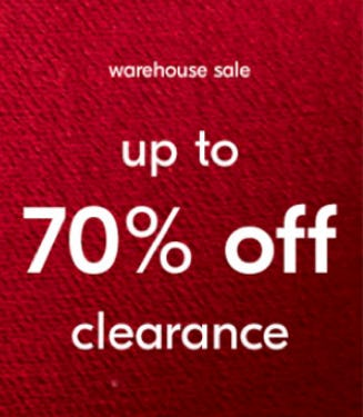 Warehouse Sale: Up to 70% Off Clearance from West Elm