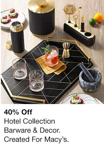 40% Off Hotel Collection Barware & Decor from macy's