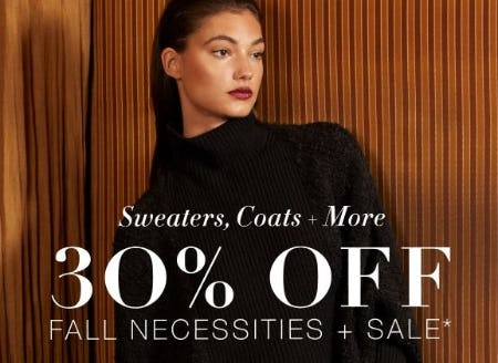 30% Off Fall Necessities + Sale from BCBG