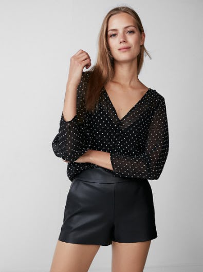 Textured Dot Puff Sleeve Top