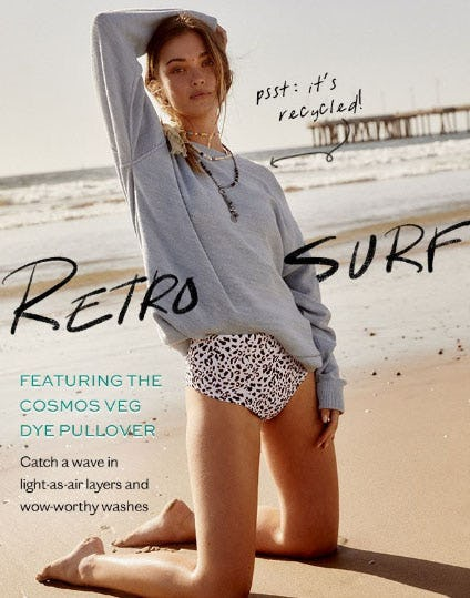 Featuring The Cosmos Veg Dye Pullover from Free People
