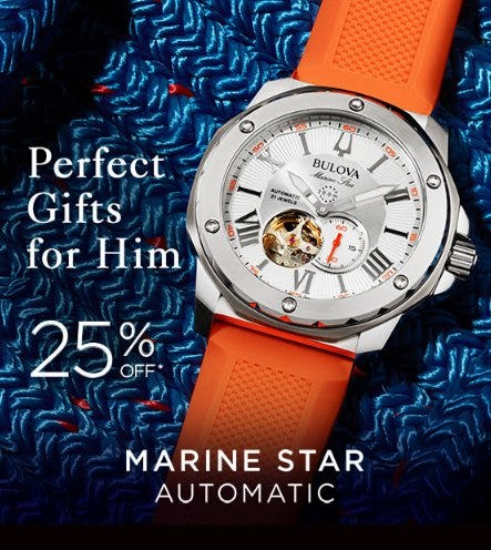 Perfect Gifts for Him From Bulova Now 25% Off from Zales The Diamond Store
