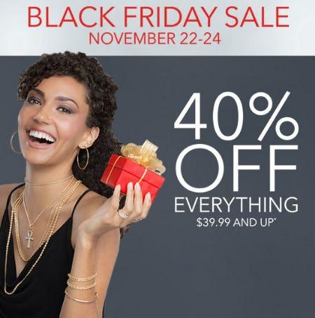 40% Off Black Friday Sale