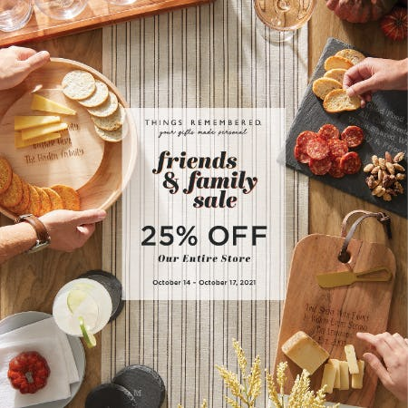 Friends & Family Sale! from Things Remembered