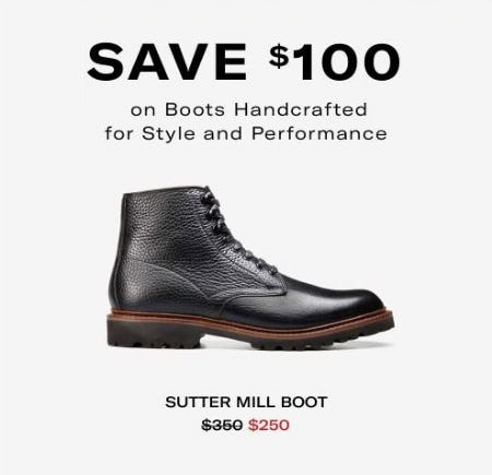 $100 Off Select Boots from Allen Edmonds