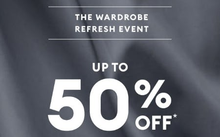 The Wardrobe Refresh Event: Up to 50% Off from Banana Republic