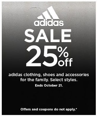25% Off adidas Clothing, Shoes and Accessories for the Family from Kohl's