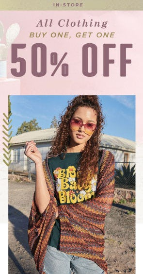 BOGO 50% Off All Clothing from Earthbound Trading Company