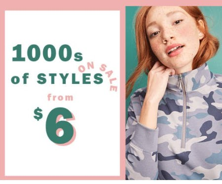 1000s of Styles on Sale