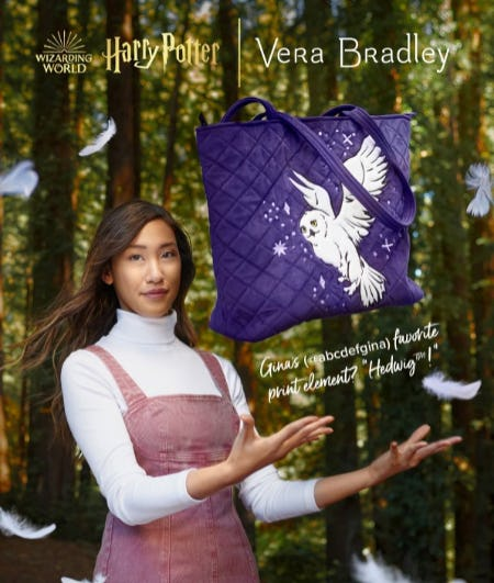 The New Harry Potter Collection is Here from Vera Bradley