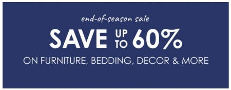 End-of-Season Sale up to 60% Off from Pottery Barn Kids